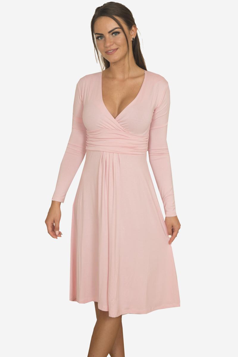 7721096843b6 Šaty strihané pod prsiami - ružová
