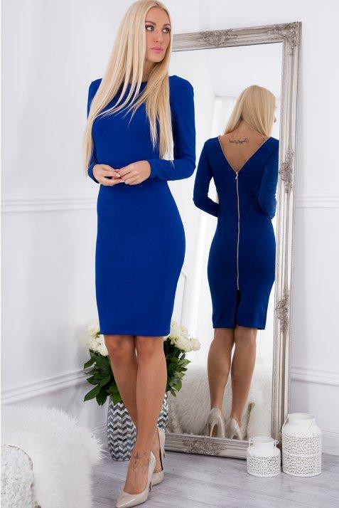 f0bcc783213b Šaty so zipsom - modrá