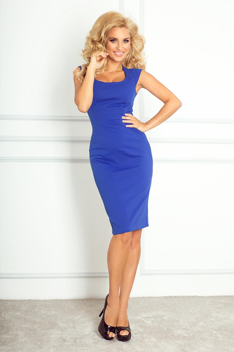 b8a0045648ad Elegantné dámske šaty modrá