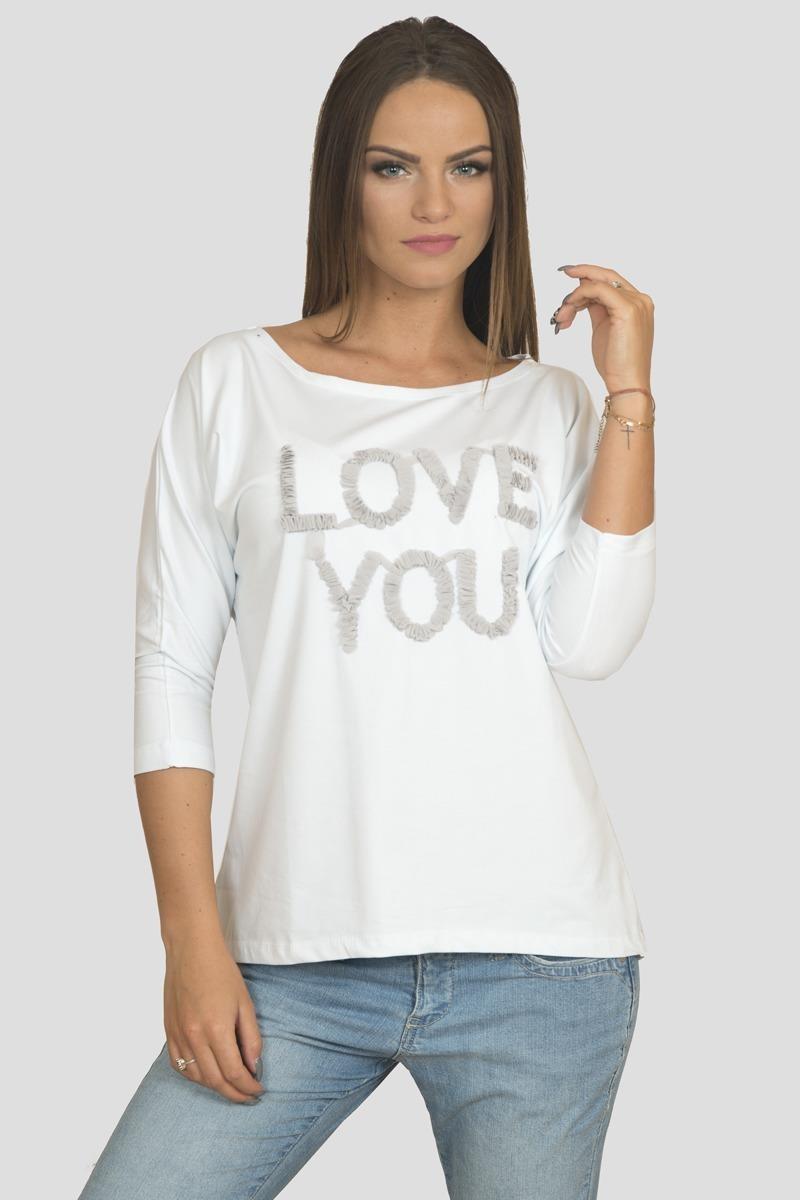 0a18f314edf6 TRIČKO LOVE YOU - BIELA